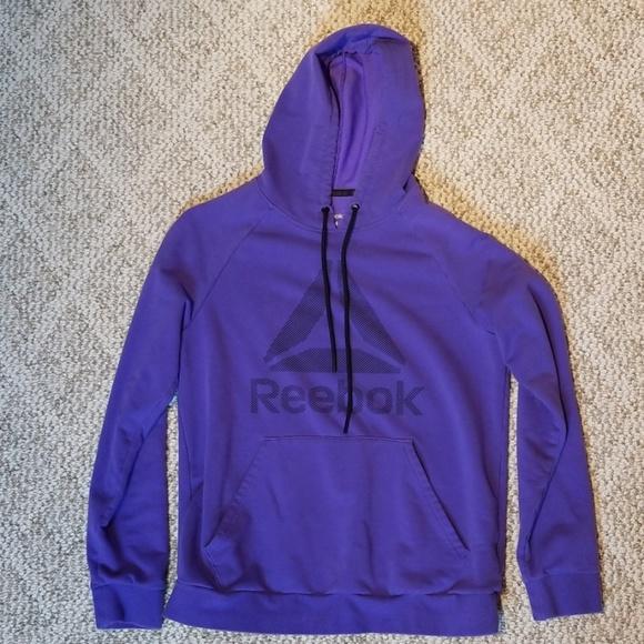 1cc1a439a9 Reebok purple womens hoodie medium